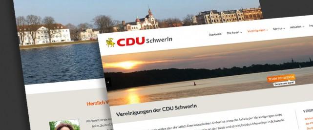 Website der CDU Schwerin