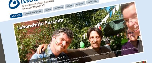 Website der lebenshilfe Parchim