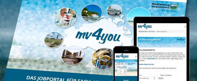 mv4you – das Jobportal für Mecklenburg-Vorpommern