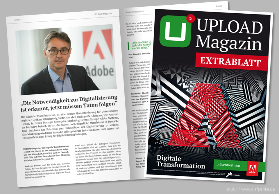 UPLOAD Magazin Extrablatt zum ADOBE Symposium