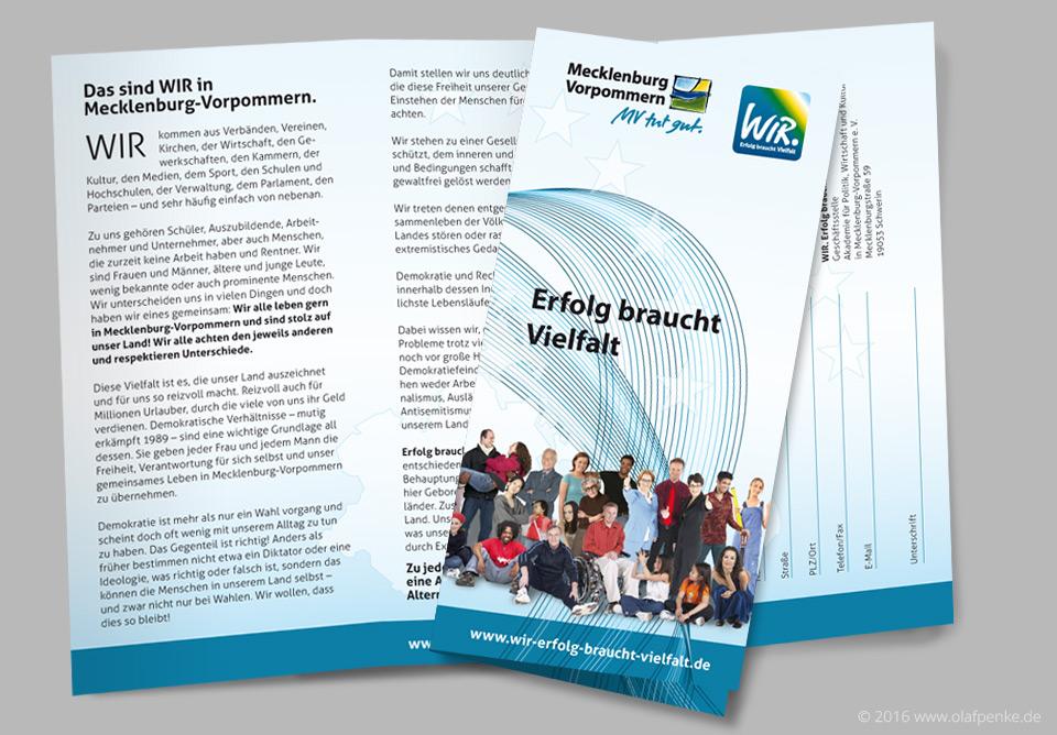 Faltblatt zur WIR-Initiative