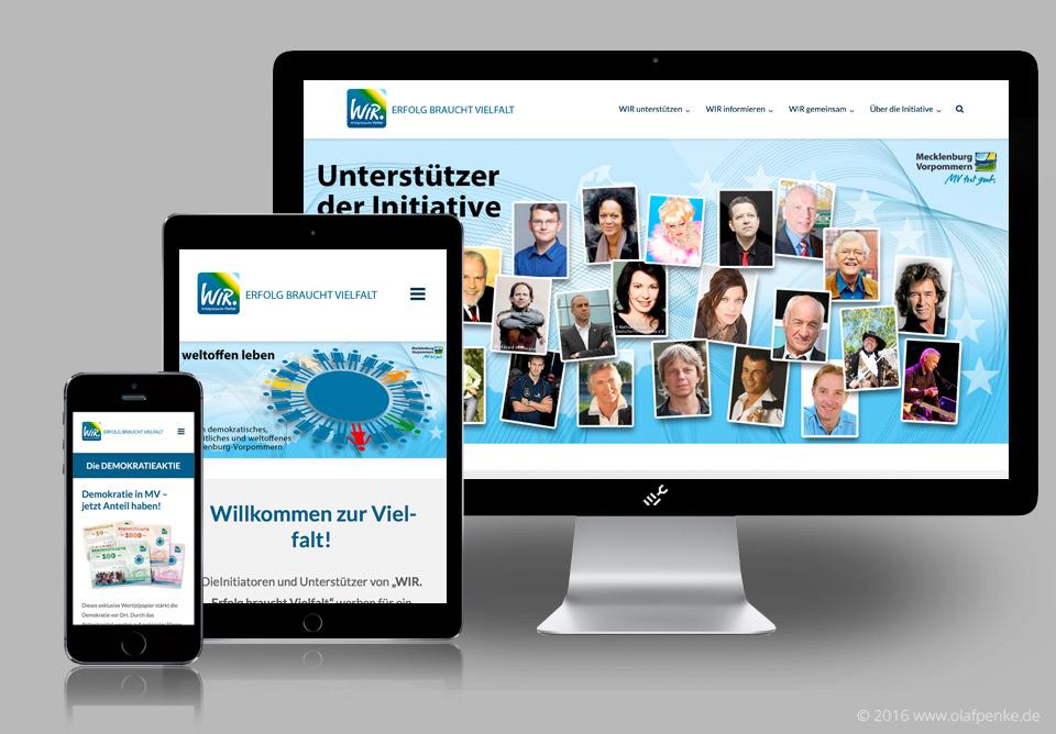 Website der WIR-Initiative
