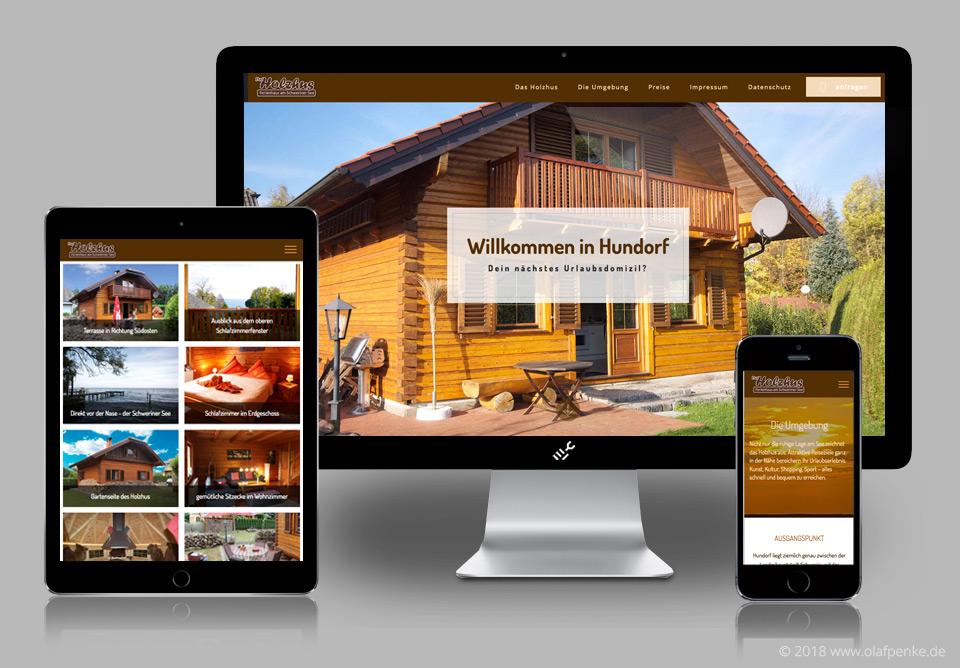 Website für Dat Holzhus am Schweriner See