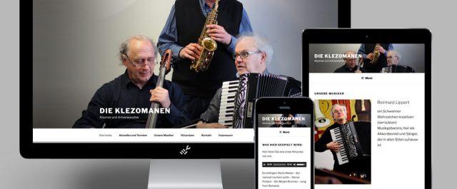 Die responsive Website der Klezomanen