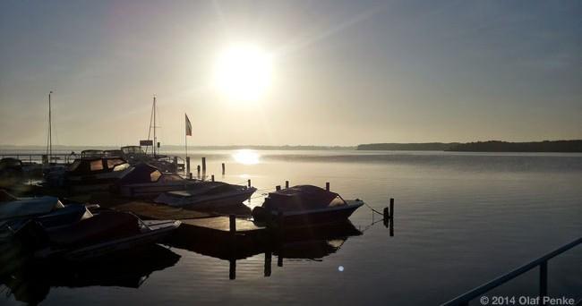 Sonnanaufgang über dem Schweriner See