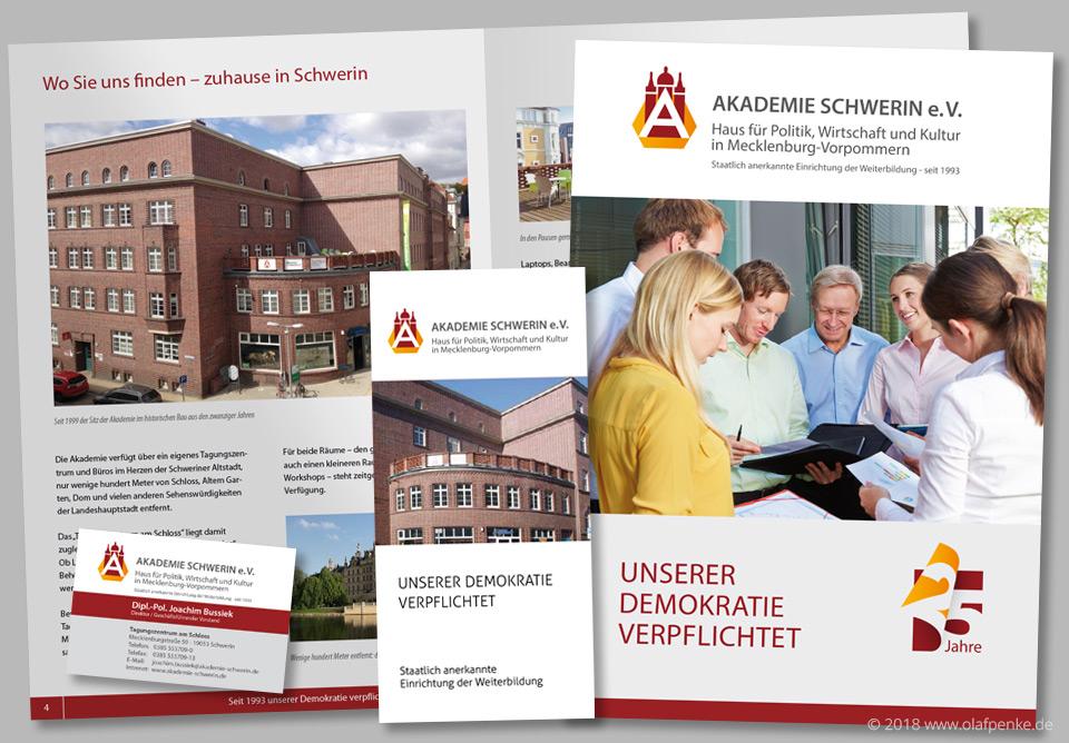 Drucksachen für die Akademie Schwerin