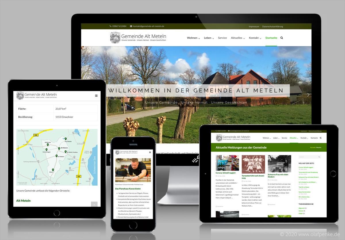 Website Gemeinde Alt Meteln